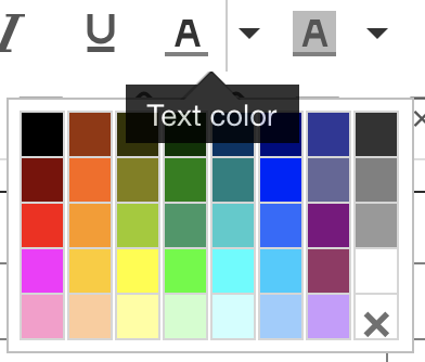 Text color picker
